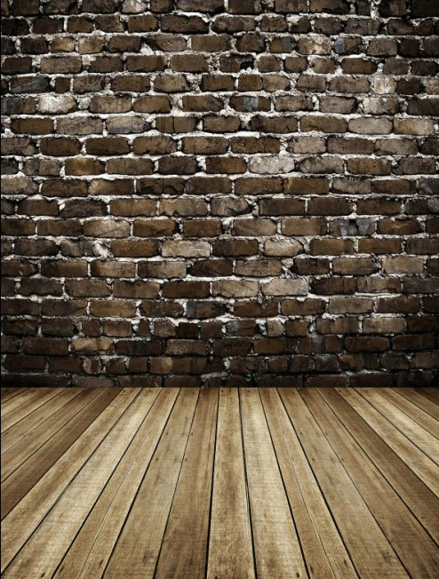 New arrival backgrounds for photo studio 150*200cm Cloth photography background Gray brick walls and wooden floor(China (Mainland))