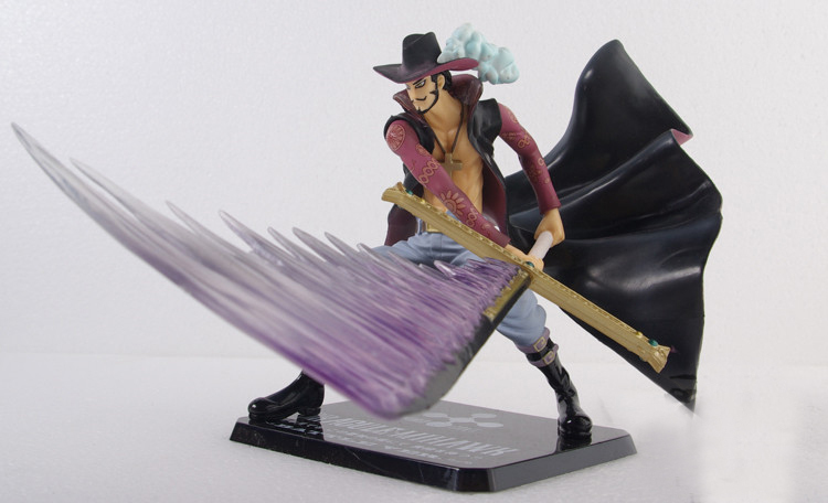 One Piece Sea Eagle Eye Dracul Mihawk Combat Model Animation Cartoon Dolls Home Decoration PVC Children Kids Toys Holiday Gifts - Wendy's Store 518562 store