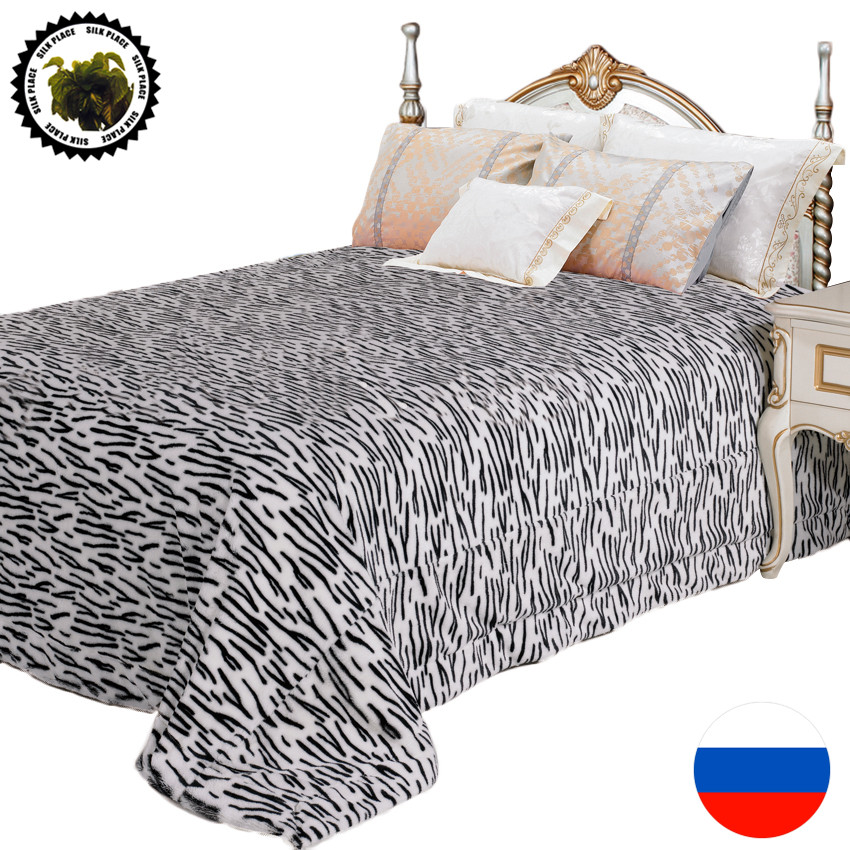 Фотография 100% Polyester High Quailty Blanket 220*240cm 2016 Moscow Fast Free Shipping Warm Large Bedspread On The Bed Chair Hot Sale