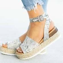 Chaussures à semelles compensées pour femmes talons hauts sandales Chaussures d'été 2019 Flop Chaussures Femme plate-forme sandales 2019 grande taille(China)
