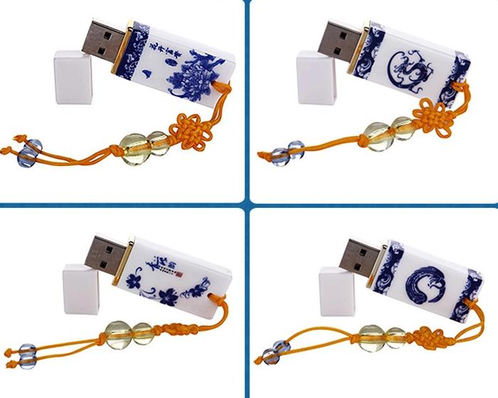 blue and white porcelain usb flash Drive Card Memory flower classic model 4GB 16GB 8GB /pen / car/flash drive  Free Shipping<br><br>Aliexpress
