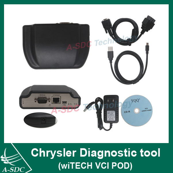 100% original Chrysler Diagnostic tool (wiTECH VCI POD) for Chrysler Jeep Dodge DRB-III Diag with Multi-Language(China (Mainland))