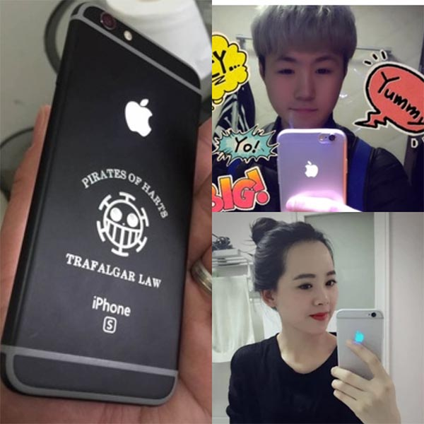 7 Colors Luminescent Glowing LED Light Up Cool Color Logo Mod Panel Kit Back Cover For iPhone 6 4.7 inch (NOT include housing)(China (Mainland))