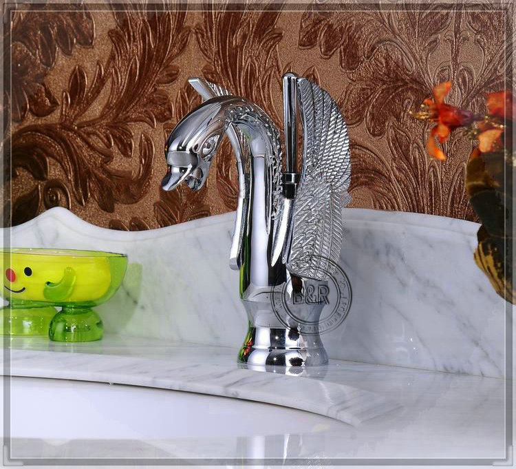 Aliexpress New Style Golden Swan Faucet Bathroom Basin Sink Mixer Tap Classic Grifo Chinese Style Bibcock E-X02 taps stainless s(China (Mainland))