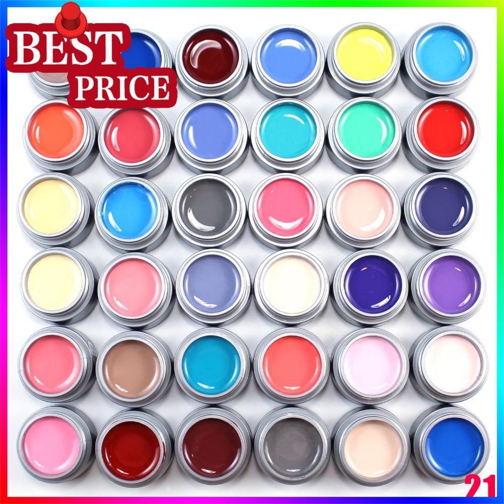 2014 Hot Sale 24pcs Color UV Nail Gel Top Fashion Freeshipping(China (Mainland))