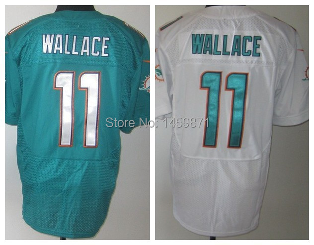 Mike Wallace Jersey White, Green, Orange Elite, Stitched, Miami Mixed Order Accept Size M L XL 2XL 3XL(China (Mainland))