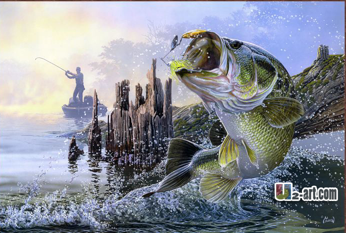 Famous realistic painting promotion shop for promotional for Big fish printing
