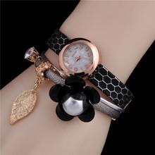 2016 Free shipping hot sale pearl pendant bracelet watches women digital watch relogio masculino quartz Watch