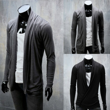 2014 New Spring All-match Elegant Fashion Trend Cardigan Mens Sweaters Slim fit Casual Outerwear Man Clothing M-XXL(China (Mainland))