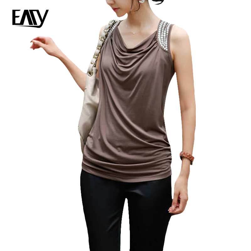 women tshirt 2017 summer t shirts sleeveless women clothing size M brown t-shirt for ladies cheap t-shirts with free shipping(China (Mainland))