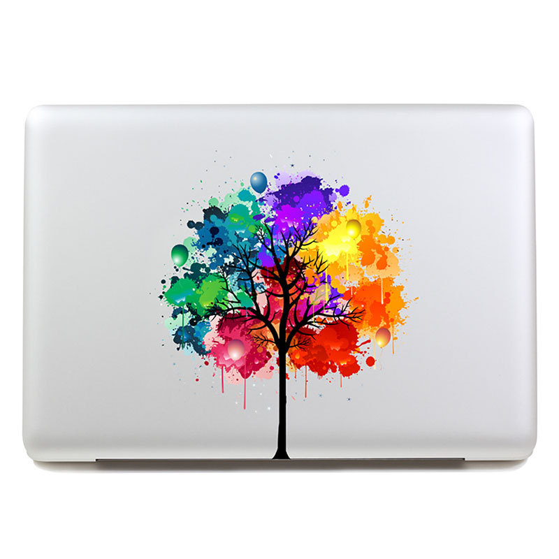 Removable avery coloful the five colours tree tablet for Apple tree mural