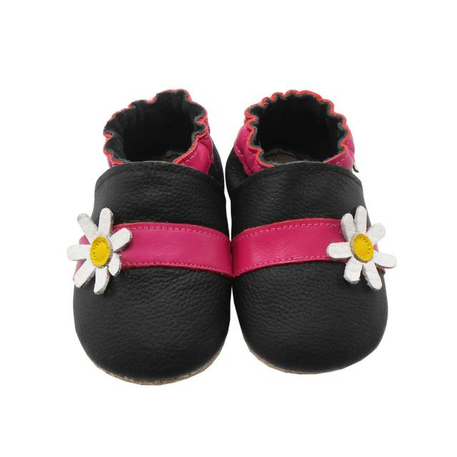 Sayoyo Ребенок Натуральная Кожа Мокасины Цветок Baby Girl Обувь Мягкой Подошвой Младенческая ...