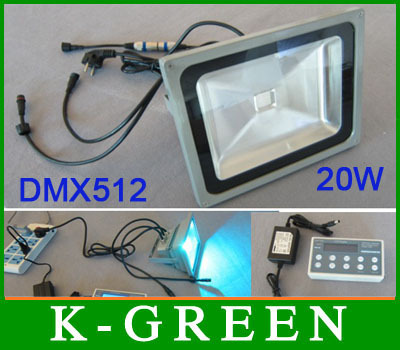 Newest outdoor color changing DMX512 led floodlight used for decoration express free shipping(China (Mainland))