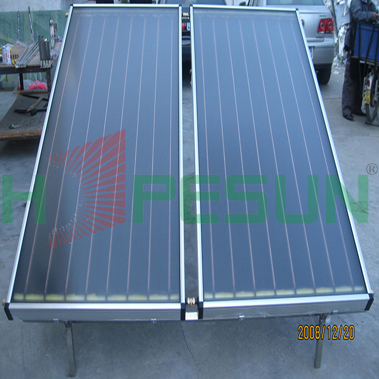 Factory direct vacuum tube solar collector ultrasonic welding quality anodized flat-plate collector(China (Mainland))