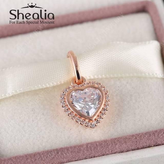 2016 весной 14 К позолоченные матерью в форме сердца подвески с AAA CZ оригинал 925 ювелирных украшений подходят DIY браслеты
