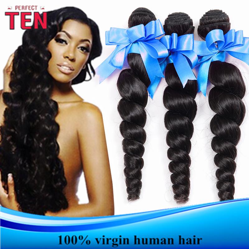 Best Quality:Brazillian Loose Wave 4 Pcs a Lot Grade 6A Virgin Remy Human Hiar Bundle Deals Brazilian Loose Wave Virgin Hair(China (Mainland))