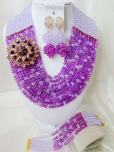 Fashion NEW African Beads Jewelry Set Crystal Beads Necklace Set Nigerian Wedding African Jewelry Set Free shipping  WI-926<br><br>Aliexpress