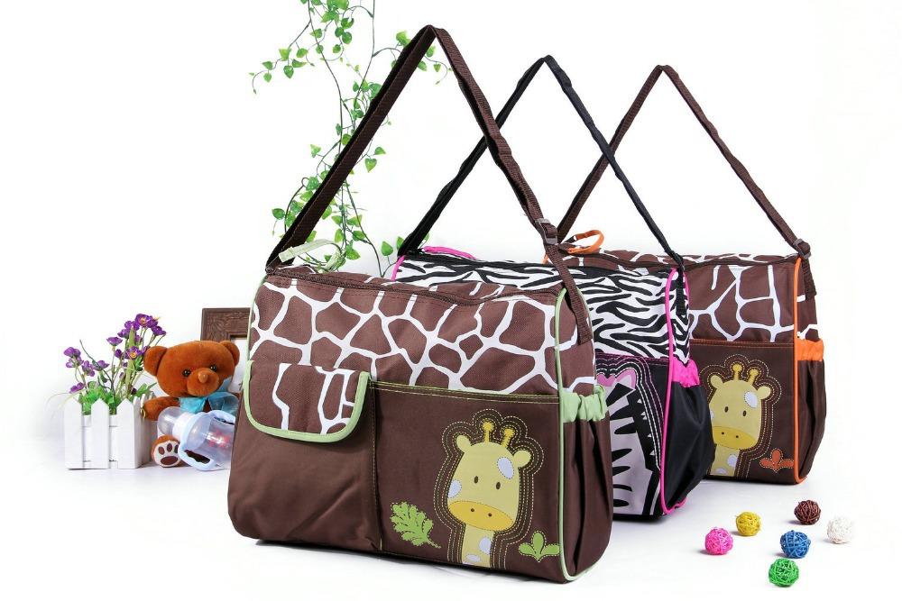 4 models baby diaper nappy bag mummy bags zebra giraffe tiger monkey babyboom nursery multifunctional infanticipate bags(China (Mainland))