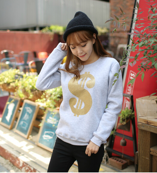 2015 New Autumn Winter Casual Thickening Fleece Pullover Sweatshirts Women Tops Hoodies , - Zero 7s store