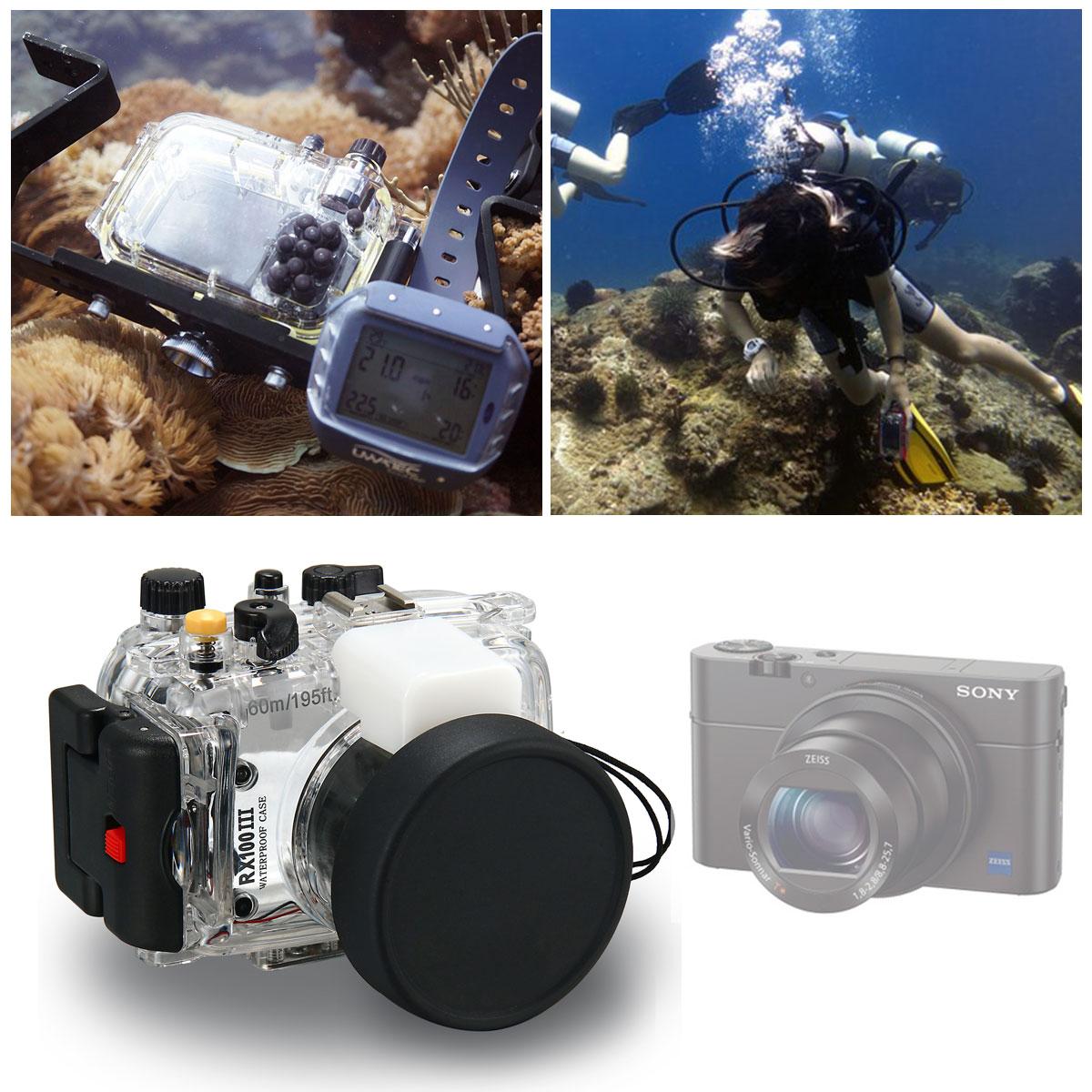 Водонепроницаемый подводный бокс Чехол Обложка для Sony дайвинг 60м камеры rx100 III м3 LF658