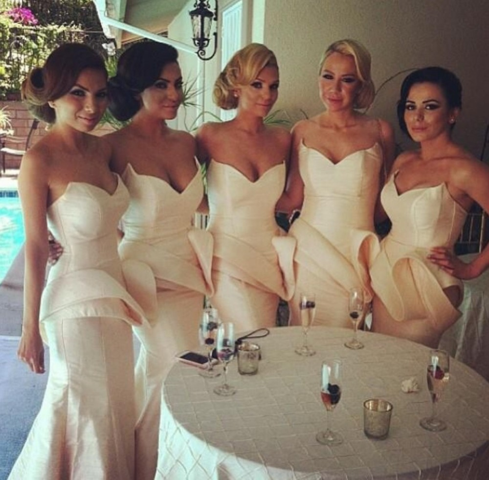 Buy dress maid honor 2016 new fashion bridesmaid dresses wedding party