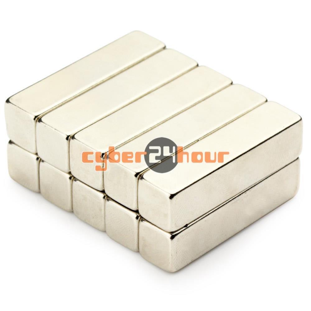 Гаджет  2pcs Big Strong Block Cuboid Magnet 40 x 10 x 10mm Rare Earth Neodymium N50 None Строительство и Недвижимость
