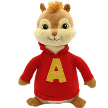16CM Movie Alvin and The Chipmunks Alvin Soft Plush Toys 2016 Baby Christmas Gift free shipping(China (Mainland))