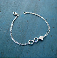 TS1248 Hot fashion simple fashion chain with infinite heart bracelet jewelry for elegant women (China (Mainland))