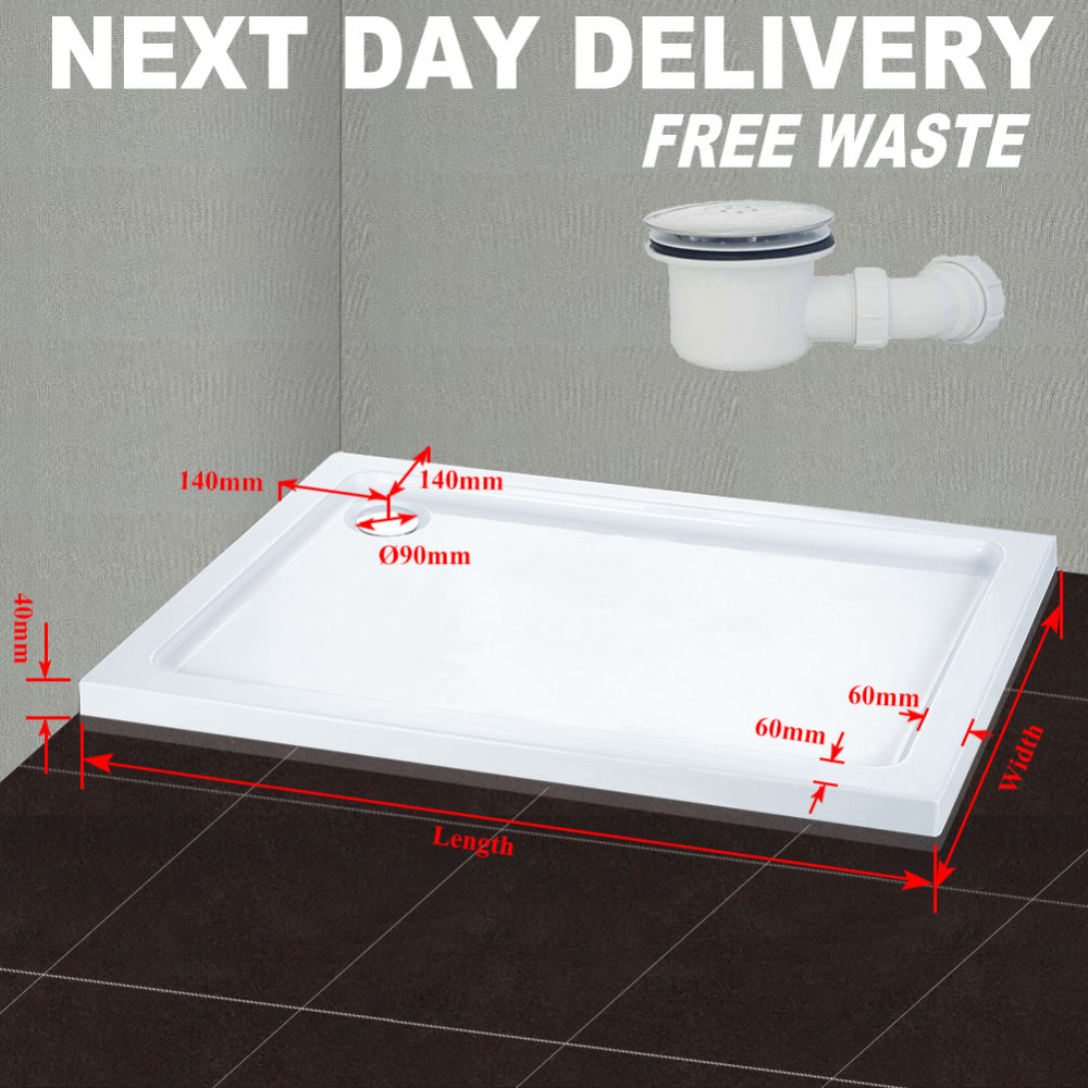 1100x800mm Rectangle Stone Shower Tray In Bath For Shower Enclosure Free Waste<br><br>Aliexpress
