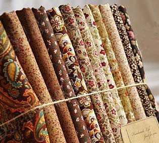 Royal diy 100 cotton 12 design mix brown flower rose feather fabric patchwork - Lot de tissu patchwork ...