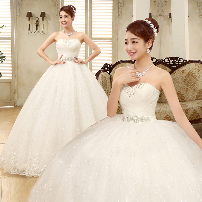 Free shipping yiiya 2016 cheap handmade bridal wedding for White wedding dress cheap