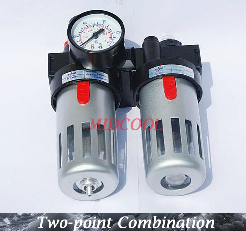 """Air Source Treatment,pneumatic Filter Regulator Lubricator BFC3000 G3/8"""" Two point air FRL combination(China (Mainland))"""