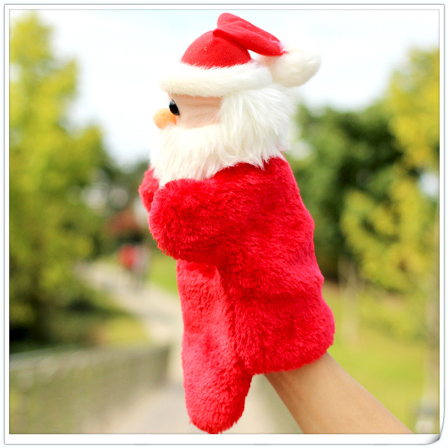 Puppet Toys kids kindergarten Role play Hand Puppet Christmas gift plush toys Santa Claus gloves dolls for children TO158(China (Mainland))