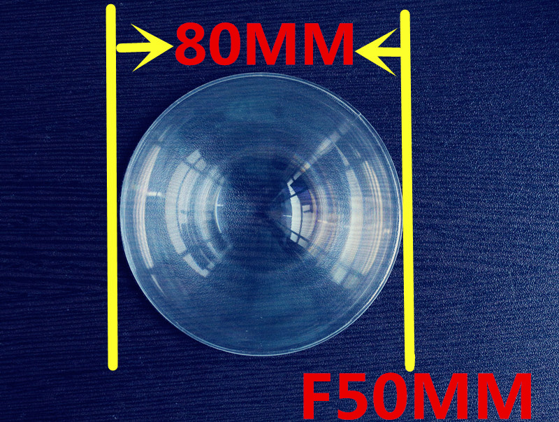 Focal length 50mm Diameter 80 mm Fresnel Lens,High light condenser Fresnel Lens used Solar concentrator circle fresnel lens(China (Mainland))