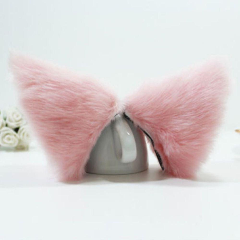 Free shipping Fashion Girl Cute Cat Fox Ear Long Fur Hair Headband Anime Cosplay Party Costume(China (Mainland))