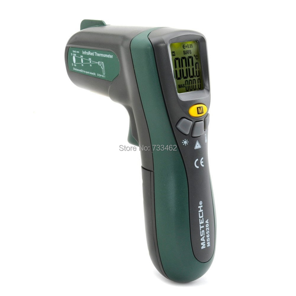 MASTECH MS6520A 10:1 Digital Non contact Infrared Laser Thermometer IR Temperature Meter Tester Switch(China (Mainland))
