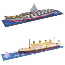 YZ Строительные Блоки авианосцы модель титаник корабль строительные блоки, совместимые с legoe школа образовательное оборудование игрушки