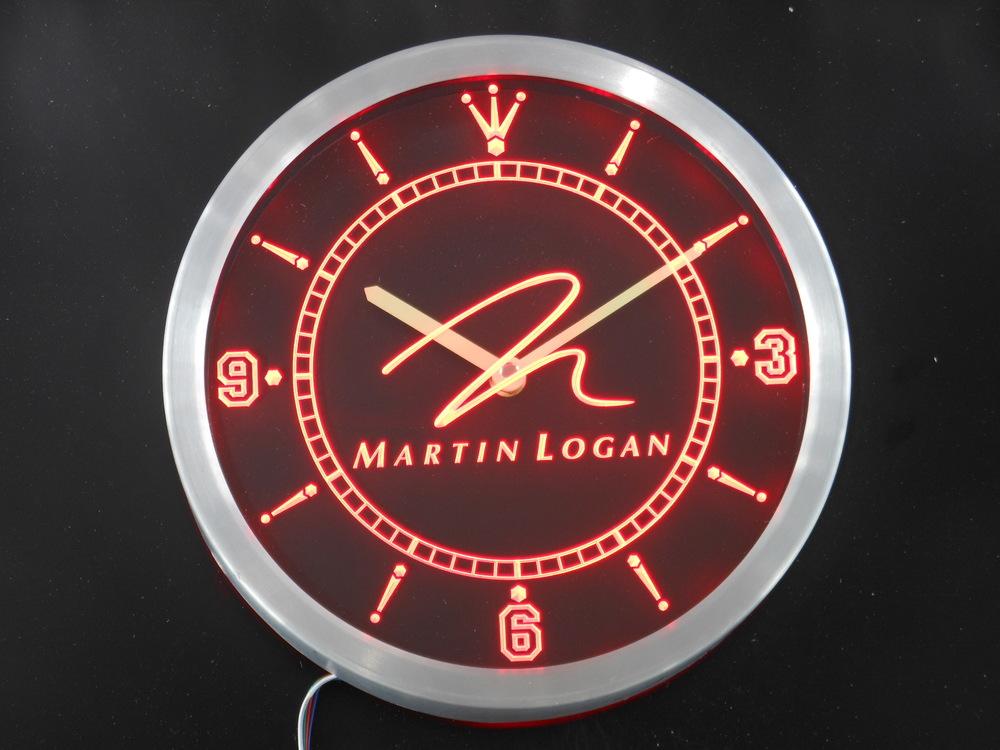 nc0431 Martin Logan Speaker Audio Home Neon Sign LED Wall Clock(China (Mainland))