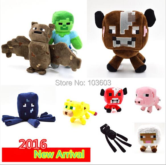 16-26cm My World Minecraft Steve Zombie Ghost Doll Wolf Sketelon Enderman Stuffed Animals JJ Strange Sheep 15 style Plush Toys<br><br>Aliexpress