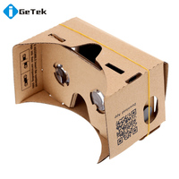 High quality DIY Google Cardboard Virtual Reality VR Mobile Phone 3D Viewing Glasses for 5.0