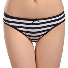 86861 Free Shipping 2016 New Cotton Women Striped Panties(China (Mainland))