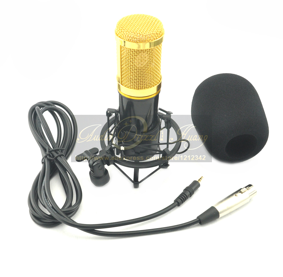 Strong Studio Recording Condenser Microphone Network K Song Cover Mic Shout Computer + Microphone Stand Holder Better Than BM800<br><br>Aliexpress