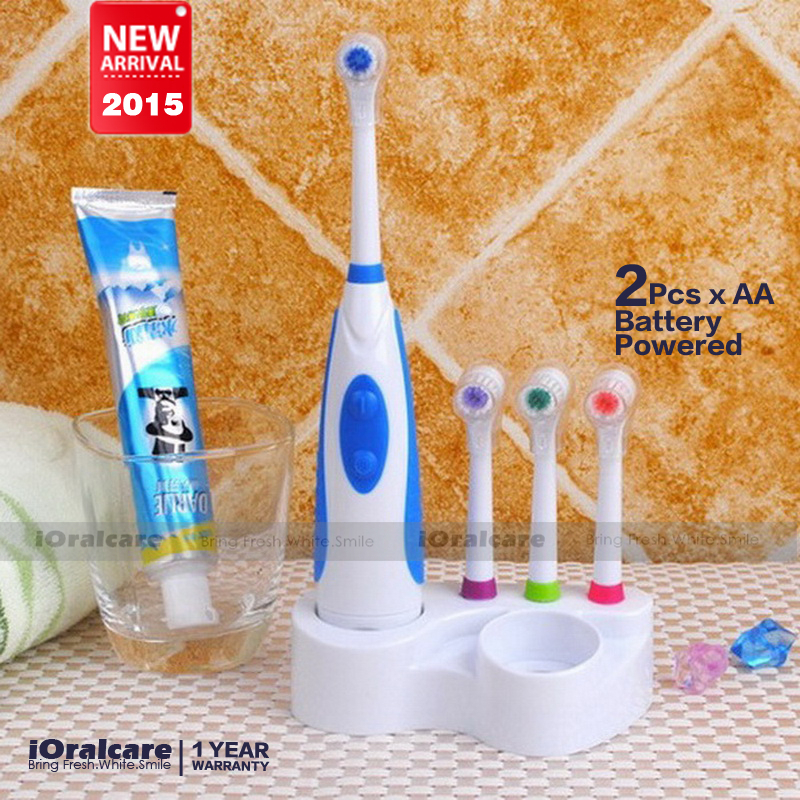 Original 2015 Battery Electric Toothbrush Ultrasonic Sonic Rotary Electric Toothbrush No Rechargeable Tooth Brush Electric(China (Mainland))
