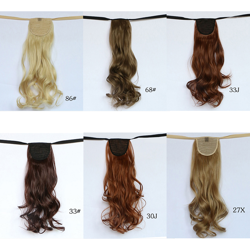 14 Colors Long Synthetic curly high tempurate wave  Ponytails 22 warp with  In Ponytail Hair Extension Hair piece<br><br>Aliexpress