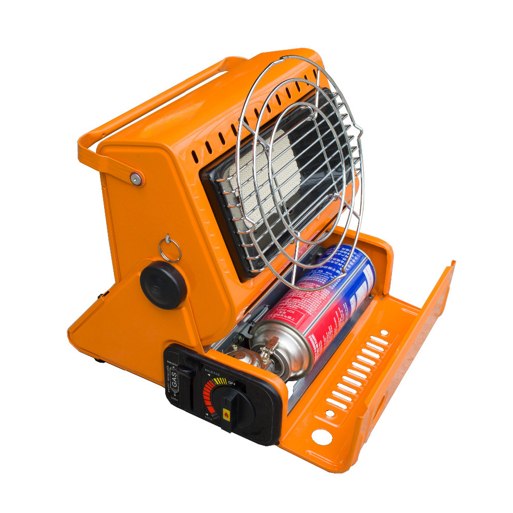 2015 New outdoor 2 in 1 orange color portable gas heater for camping