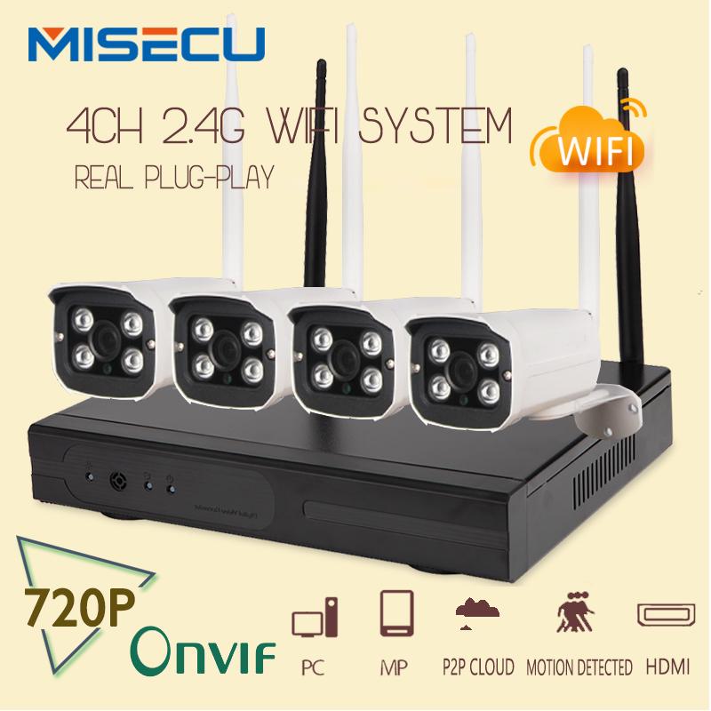 Easy installation plug&play 2.4G wifi KIT 720P 1080P VGA/HDMI 4CH NVR Wireless nvr P2P 720p WIFI IP Camera Waterproof CCTV kit(China (Mainland))