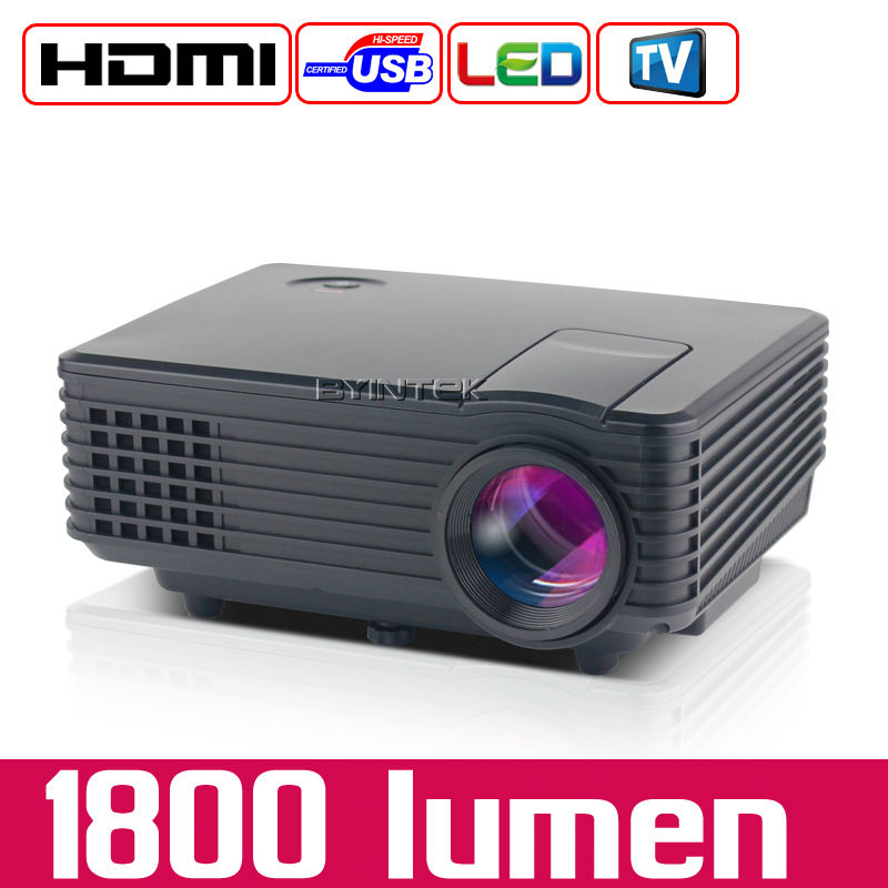 2016 New HD 1080P TV Video LCD Digital HDMI USB Home Theater mini LED display Projector Proyector Beamer(China (Mainland))