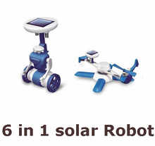 Hot sale New Children's DIY solar toys 6 in1 educational solar power Kits Novelty solar robots For Child birthday Christmas gift(China (Mainland))