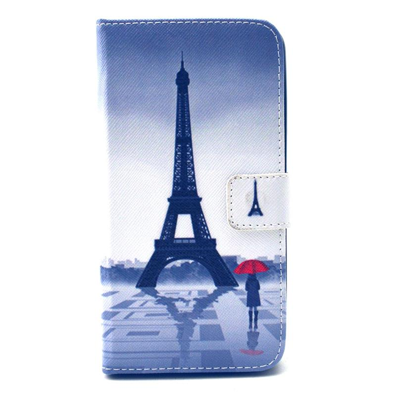 30 pcs/lot Retro Landscape Wallet Leather Case Card Slot Stand WIKO LENNY