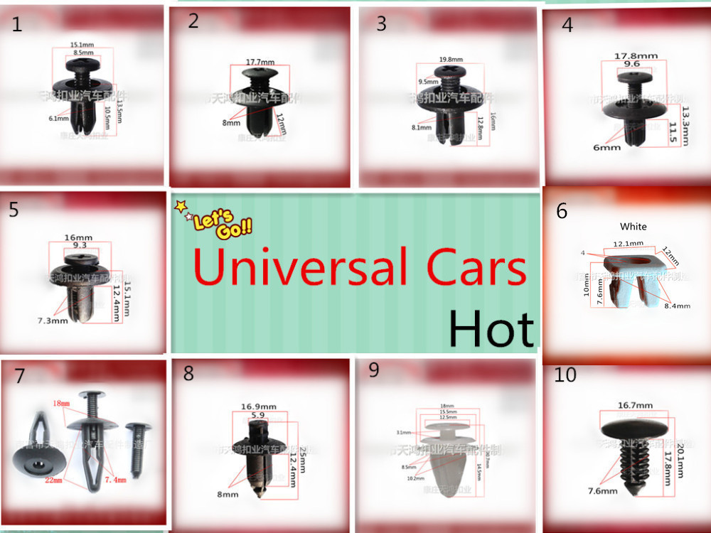 Universal black car bumpers, door , fenders, CD, DVD, cover, roof ,plastic auto fastener clip rivet,auto clips and fasteners(China (Mainland))